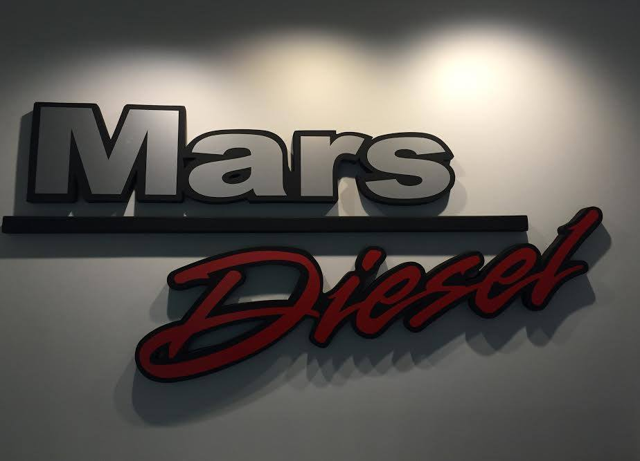 mars diesel logo on wall